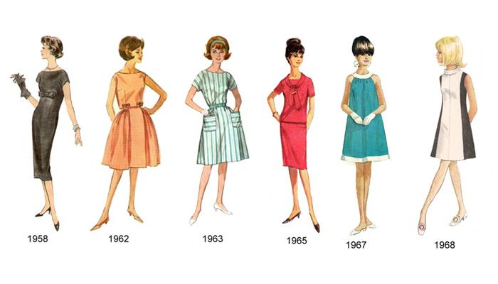 Silhueta anos 60