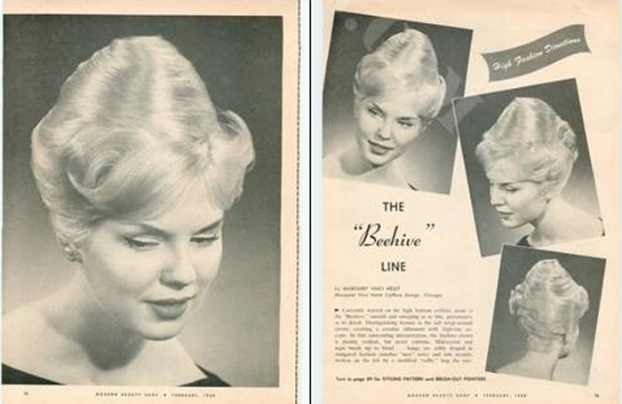 Beehive Hair anos 60