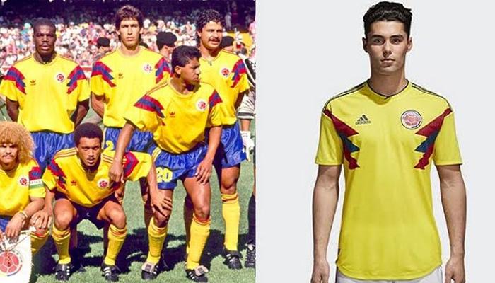 Camisas da Colômbia para a Copa de 1990
