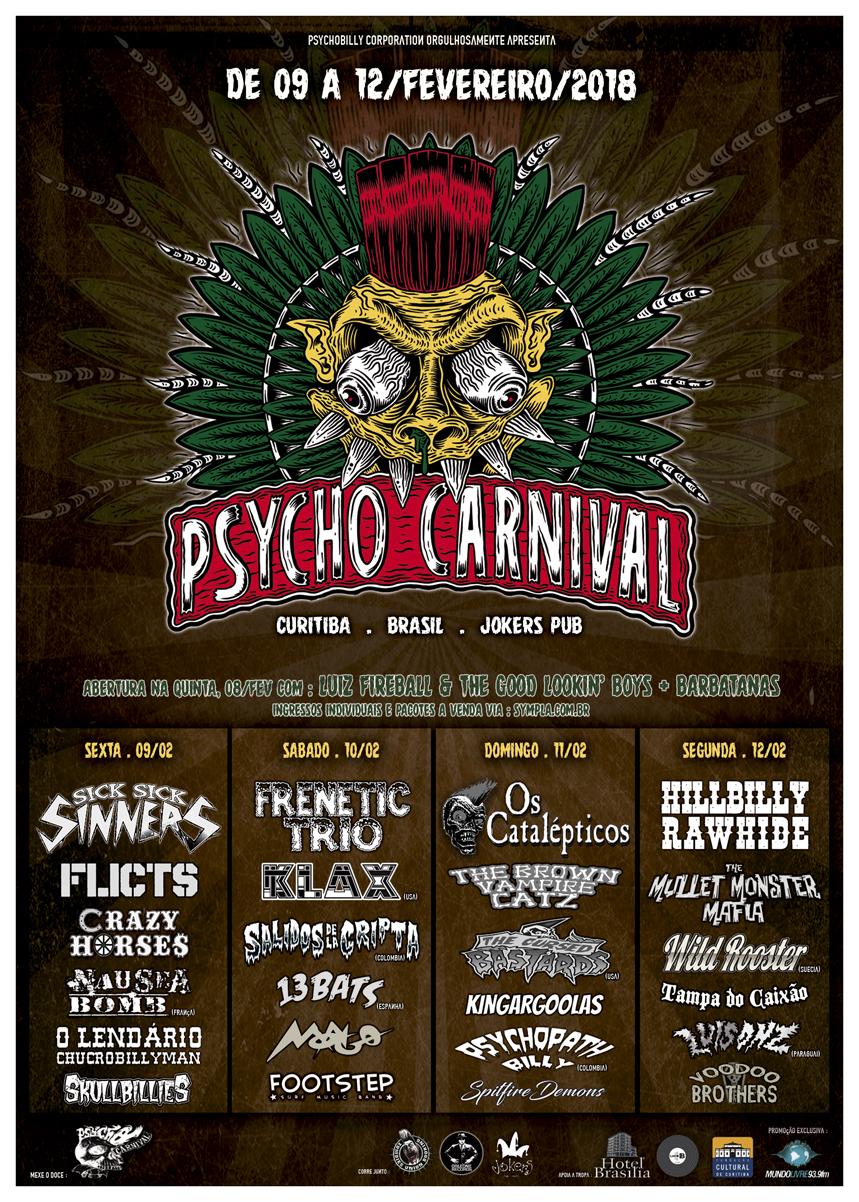 Cartaz Oficial Psycho Carnival