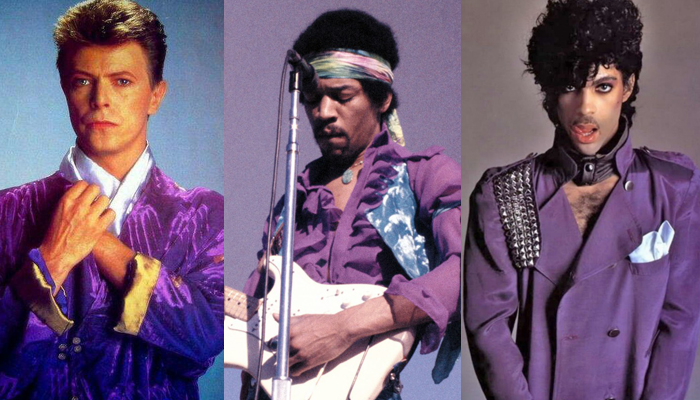 David Bowie, Jimi Hendrix e Princ