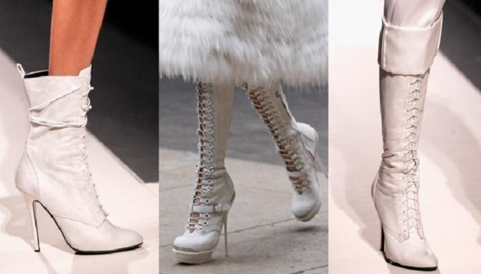 Botas Brancas Vogue