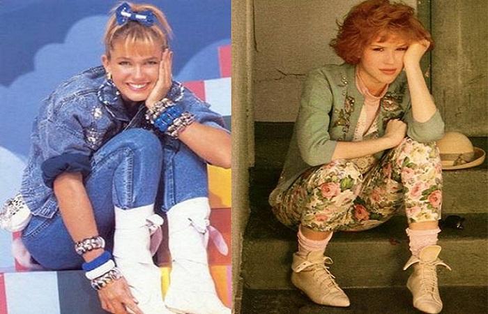 Xuxa e Molly com botas brancas