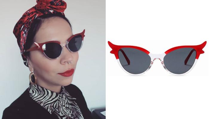 Óculos retrô Lucille Red