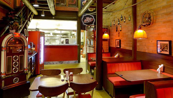 Chips Burger área da jukebox