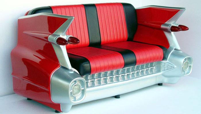 carros antigos se transformam em m veis universo retr. Black Bedroom Furniture Sets. Home Design Ideas