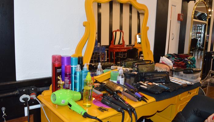 Mesa de maquiagens