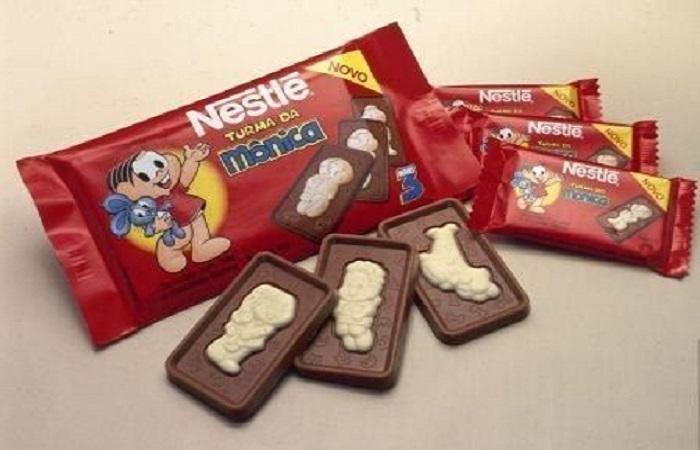 Chocolate Nestlé Turma da Mônica