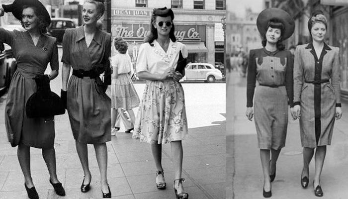 A moda dos anos 40