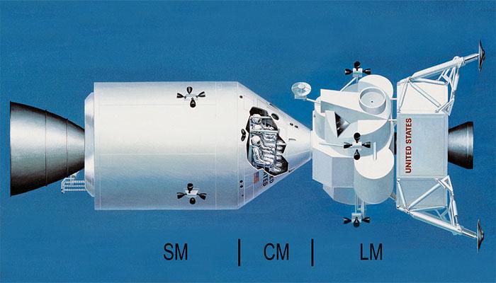 A nave batizada de Saturno V